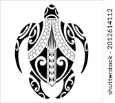 the turtle tattoo has been... | Shutterstock .eps vector #2012614112