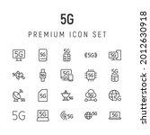 premium pack of 5g line icons....