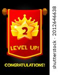 level up reward on flag cartoon ...