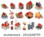 medieval architecture isometric ... | Shutterstock .eps vector #2012648795