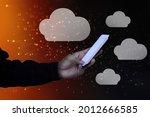 2d rendering technology cloud... | Shutterstock . vector #2012666585
