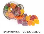 Candy Jar Isolated On A White...
