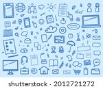 education. set of different... | Shutterstock .eps vector #2012721272
