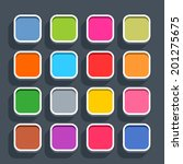 16 3d blank icon in flat style. ...