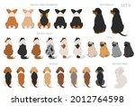sitting dogs backside clipart ...   Shutterstock .eps vector #2012764598