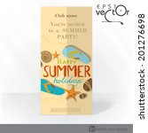 party invitation card design ... | Shutterstock .eps vector #201276698