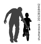happy family  father teaching... | Shutterstock .eps vector #2012818442