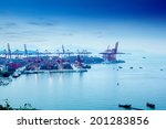 container terminal | Shutterstock . vector #201283856