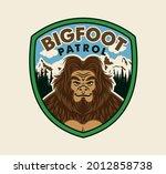 bigfoot patrol label. t shirt... | Shutterstock .eps vector #2012858738