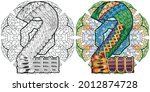 hand painted art design....   Shutterstock .eps vector #2012874728