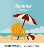 summer design over beach scape... | Shutterstock .eps vector #201287768