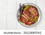 grilled sliced beef flank steak ...