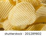 unhealthy crinkle cut potato... | Shutterstock . vector #201289802