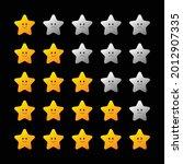 five stars rating icon set...