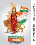 mother india on indian map... | Shutterstock .eps vector #2012926952