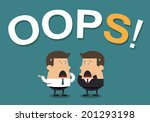 "businessmen with the word ""oops ... 
