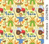 vector seamless pattern cute... | Shutterstock .eps vector #201298676