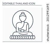 buddha line icon. buddha...   Shutterstock .eps vector #2012991695