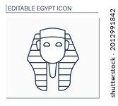 pharaoh line icon. king of...   Shutterstock .eps vector #2012991842