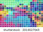 vibrant mosaic with color cells ... | Shutterstock .eps vector #2013027065