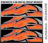 sport car decal wrap design...   Shutterstock .eps vector #2013064298