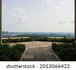 Skyline View Of Singapore City...