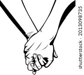 two people holding hands. a...   Shutterstock .eps vector #2013098735