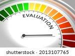 evaluation level meter.... | Shutterstock . vector #2013107765