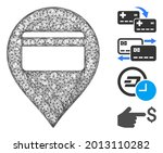 mesh credit card pointer web 2d ...   Shutterstock .eps vector #2013110282