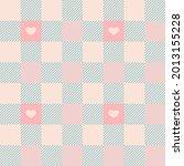 gingham pattern set. the... | Shutterstock .eps vector #2013155228