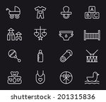 baby icons | Shutterstock .eps vector #201315836