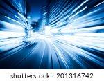 traffic with blur light through ... | Shutterstock . vector #201316742