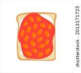 baked beans on toast.... | Shutterstock .eps vector #2013171725