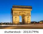 arc de triomphe paris | Shutterstock . vector #201317996