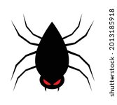 scary black spider vector with... | Shutterstock .eps vector #2013185918