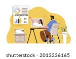 video conference concept. man...   Shutterstock .eps vector #2013236165