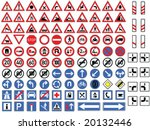 traffic signs collection vector | Shutterstock .eps vector #20132446