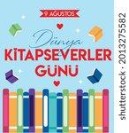 9 august   world book lovers...   Shutterstock .eps vector #2013275582