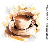 coffee energy | Shutterstock .eps vector #201327962