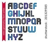 double lines geometric font ... | Shutterstock .eps vector #201329585