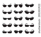 sunglasses set   Shutterstock .eps vector #201331922