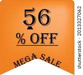 56  off on a orange balloon for ... | Shutterstock .eps vector #2013327062