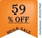 59  off on a orange balloon for ... | Shutterstock .eps vector #2013327065