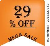 29  off on a orange balloon for ... | Shutterstock .eps vector #2013327152