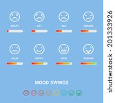 mood swings concept  vector... | Shutterstock .eps vector #201333926
