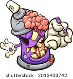purple zombie spray can... | Shutterstock .eps vector #2013403742