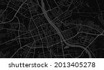 dark black warsaw city area... | Shutterstock .eps vector #2013405278