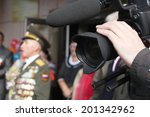 video camera shooting an event | Shutterstock . vector #201342962