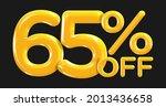 65 percent off. discount... | Shutterstock .eps vector #2013436658