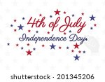 4th of july hand written on... | Shutterstock .eps vector #201345206